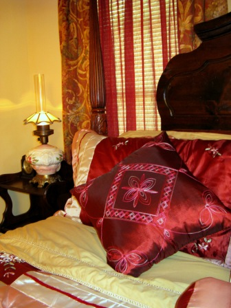 Red Room with Half Canopy Bed