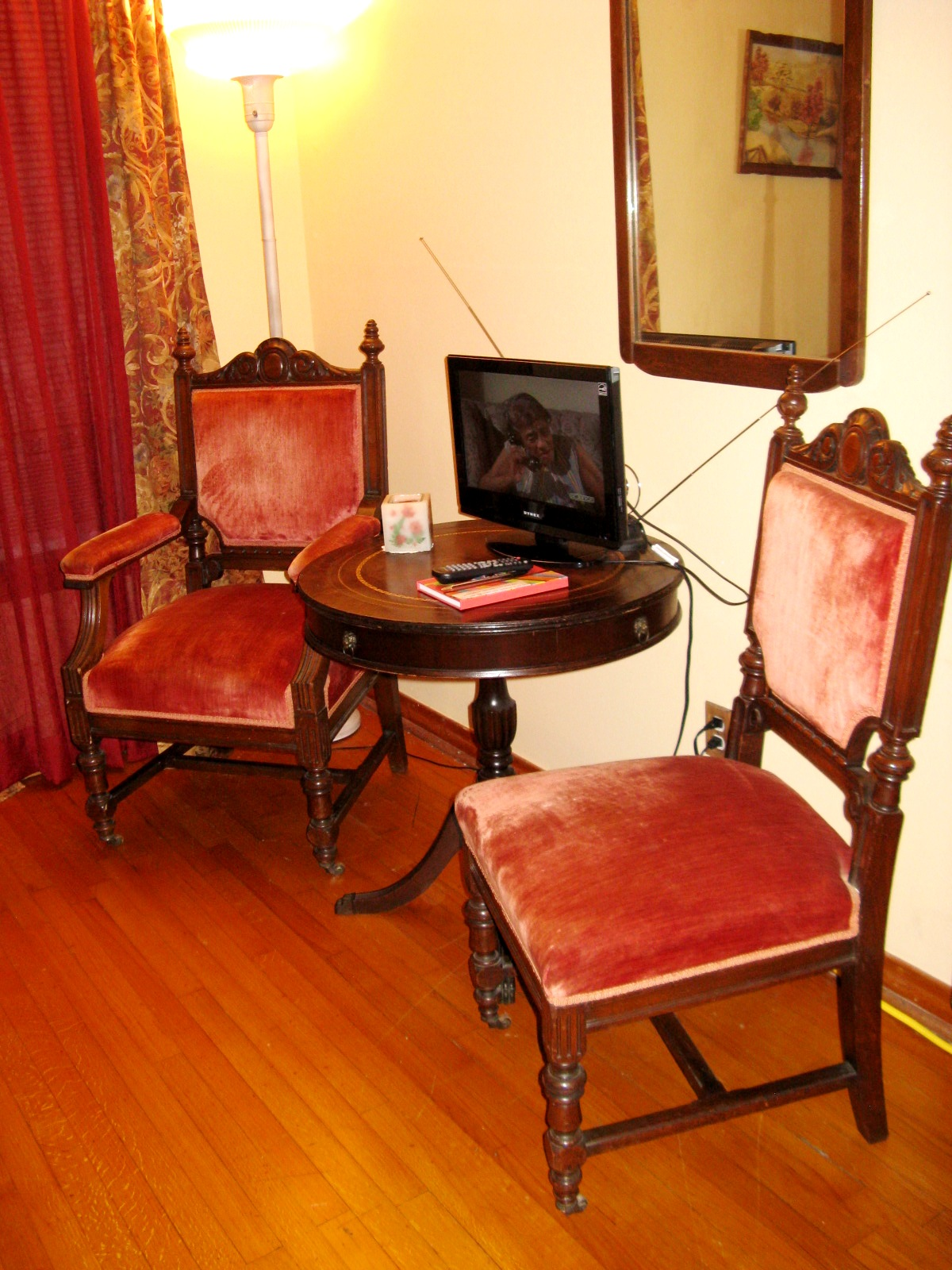 Seating area of the Red Room